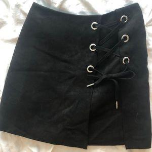 H AND M velvet skirt